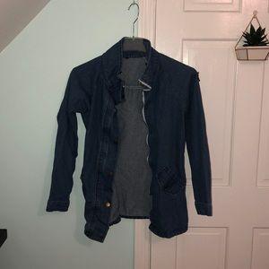 Faux jean jacket